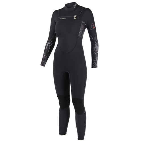Jobe sofia 3/2 chest zip zwart dames wakeboard fullsuit