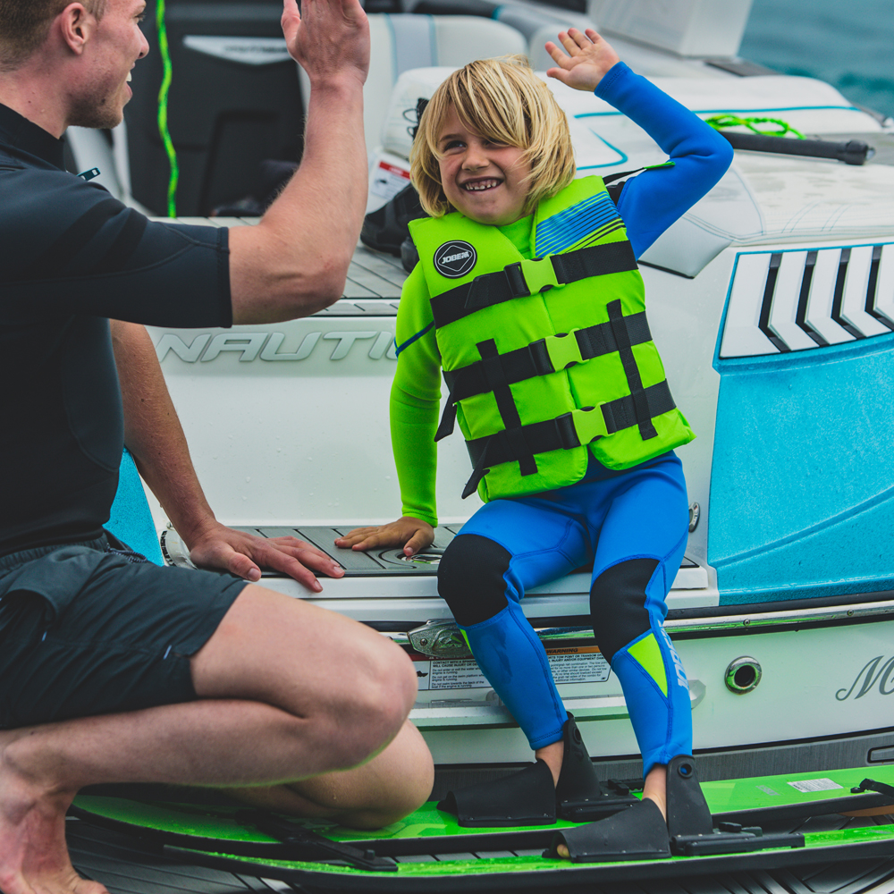 Jobe Boston Fullsuit 3|2MM Lime blauw wetsuit kind