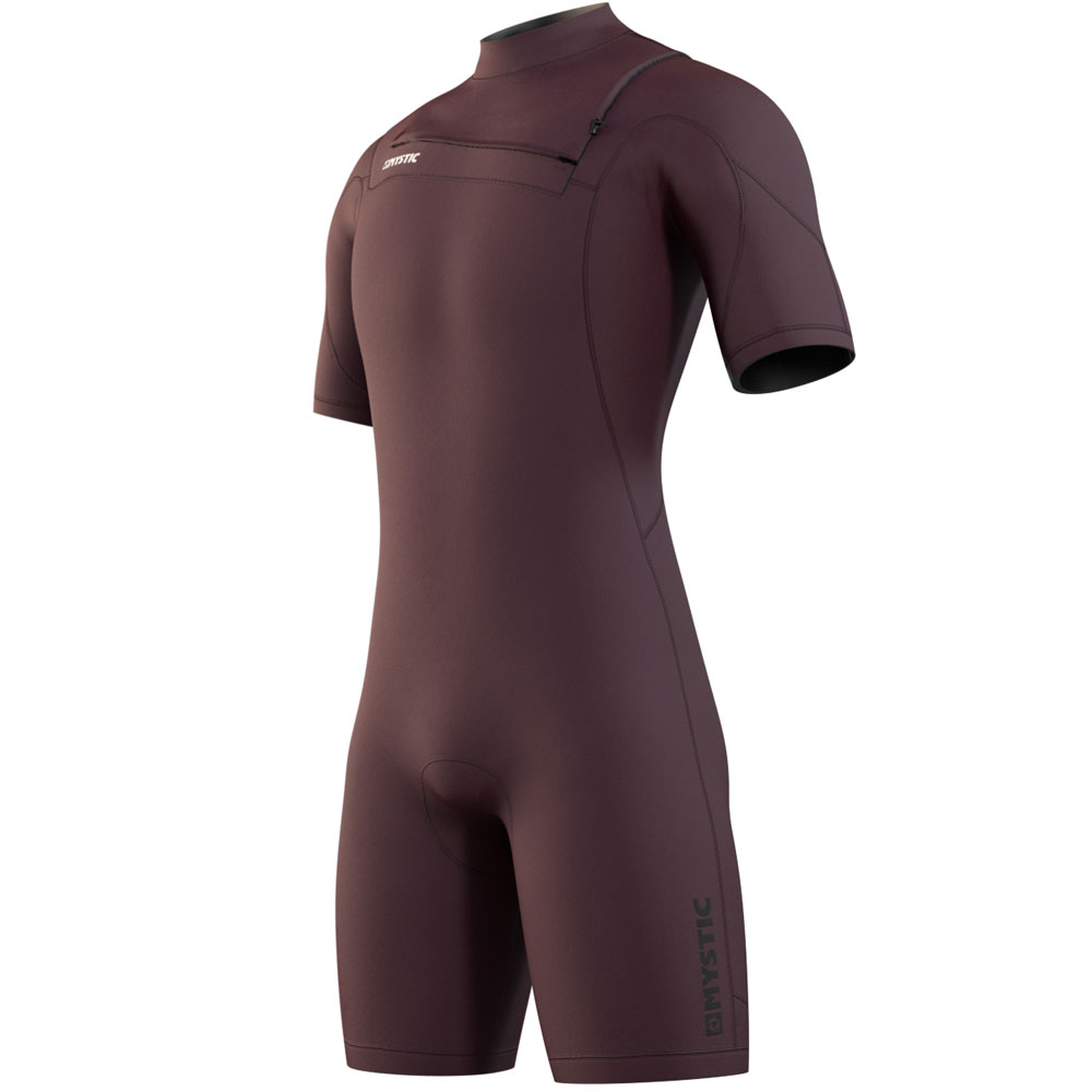 Mystic Marshall Shorty 3/2mm borstrits Merlot rood heren wetsuit