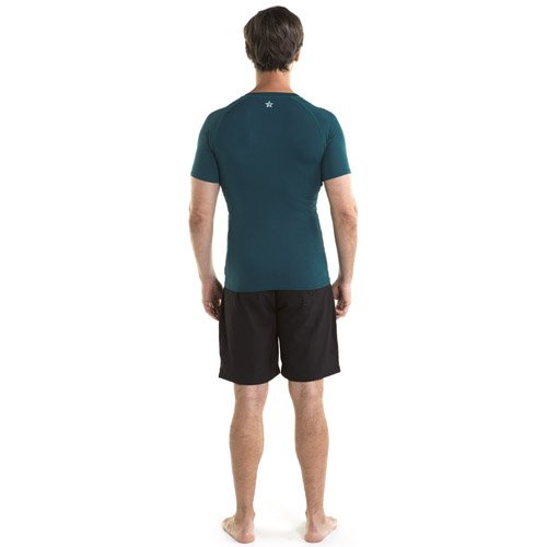 Jobe rash guard shortsleeve heren donker blauw